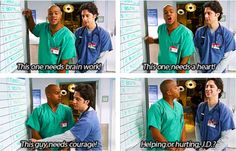 "Scrubs, Turk and JD...oh cmon! You know you thought of ""courage"" too! :P"