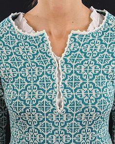 Bilderesultat for bøvertun kofte Fair Isle Knitting Patterns, Fair Isle Pattern, Knitting Stitches, Knitting Yarn, Knit Patterns, Hand Knitting, Punto Fair Isle, Norwegian Knitting, How To Purl Knit