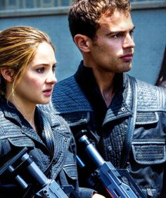 Tris and Four...could be the paintball scene or the stimulation attack