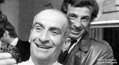 Louis de Funes etand Jean-Paul Belmondo