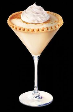 Pumpkin Pie Martini  Ingredients  Spiced Pumpkin  2 parts Pinnacle Pumpkin Pie Vodka  1 part Irish cream  Splash Half  Half  Shake with ice, strain into a cinnamon sugar rimmed martini glass and top with whipped cream