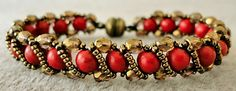 Linda's Crafty Inspirations: Bracelet of the Day: Renaissance Bracelet  Link to free pattern