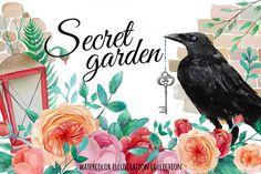 Check out Secret garden by Eisfrei on Creative Market