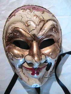Genuine Venetian Joker Mardi Gras Mask Masque de Venise | eBay