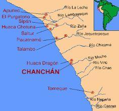 La cultura Chimú se desarrollo en el mismo territorio de la cultura Mochica en el departamento de La Libertad. tenía como centro la ciudad de Chan Chan, se extiende por el norte hasta Tumbes y por el sur hasta el Valle de Huarmey (Ancash), por el este sus límites fueron determinados por la Cordillera Montañosa.