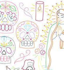 DIA DE LOS MUERTOS - Embroidery Patterns | Sublime Stitching