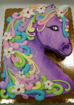 Unicorn Cupcake Cake Made With 24 Cupcakes And Buttercream Icing