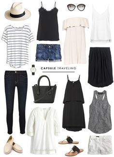 Image result for minimal travel wardrobe