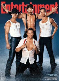 EWs Magic Mike Covers | Tom  Lorenzo.  Hehehe, TLos caption on this was Joe Manganiello is stripper Jesus!  :)
