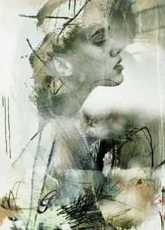 Double exposure by Emma Silk #mixed #media