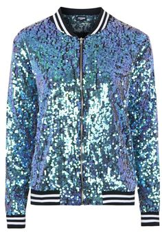The Taylor Mermaid Sequin Bomber Jacket by Jaded London
