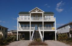 Holden Beach, NC - The Wb 248 OBW a 4 Bedroom Boulevard / Second Row Rental House in Holden Beach, part of the Brunswick Beaches of North Carolina. Includes Hi-Speed Internet
