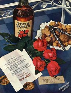 1950 Four Roses Whiskey Collectible Vintage Print Ad | eBay