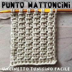 Crochet Basket Pattern, Crochet Hooks, Knit Crochet, Crochet Patterns, Tunisian Crochet Stitches, Knitting Stitches, Crochet Crafts, Crochet Projects, Tapestry Crochet