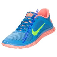 competitive price 9fb0c a74e2 Nike Free 4.0 V3 Womens Distance Blue Atomic Pink Lime 580406 463 Nike Shoes  For Sale