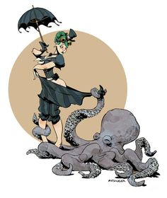 otto by the sea brian kesinger 300x356 Interview With Steampunk Octopus Artist Brian Kesinger