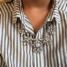 Glam And Glitter Statement Necklace #fashion #style -  24,90 € @happinessboutique.com