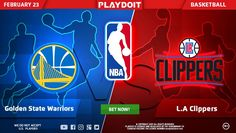 Any plans for today? Start your Thursday betting on NBA: Golden State Warriors vs Los Angeles Clippers! 🏀 No one is better than Playdoit, register now! 😎👍