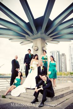 #city #wedding Bridal Party photo by Vancouver wedding photographer Magnolia Photographic