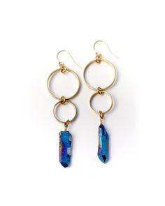 Blue Crystal Bubbles Earrings - JewelMint