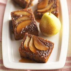 Upside-Down Pear Gingerbread @keyingredient #cake