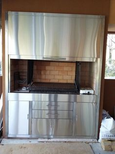 Argentine Grill, Outdoor Kitchen Patio, Barbacoa, Smokers, French Door Refrigerator, Grills, Bbq, Kitchen Appliances, Backyard