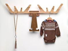 Moose head coat rack, perfect for a nursery. Coat Pegs, Coat Hanger, Coat Racks, Wall Hanger, Wall Hooks, Moose Head, Moose Antlers, Decoration Inspiration, Rack Design