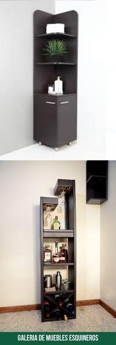 Las mejores imagenes de muebles esquineros Bathroom Medicine Cabinet, Bookcase, Shelves, Home Decor, Modern Furniture, Home Decorations, Interiors, Shelving, Decoration Home
