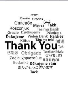 Thank You, bedankt!
