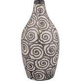 Rosette Tall Ceramic Vase