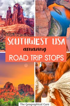 Planning a US road trip or vacation in the US? In this guide, I give you a flexible 10-14 day itinerary for exploring the American Southwest. You can follow it or use this itinerary to plan your own trip in the Southwest US. This itinerary takes you to through Arizona, New Mexico, and Utah. You'll visit some of the best cities, towns, and national parks in the US, including the Grand Canyon. US Travel | Road Trip Ideas | Arizona Travel | Utah Travel | Phoenix | Tucson | Santa Fe | Zion Us Road Trip, Road Trip Hacks, Travel Ideas, Travel Guide, Travel Inspiration, Arizona Travel, Hawaii Travel, Canada Travel, Usa Travel