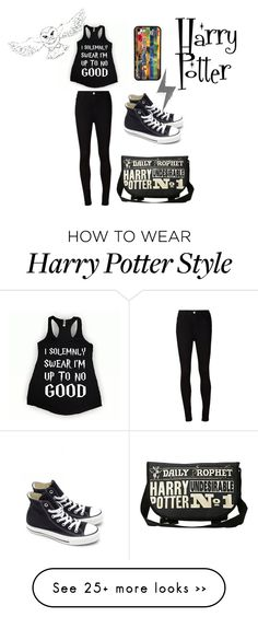 """""""Harry Potter"""" by rachael20013 on Polyvore featuring AG Adriano Goldschmied, Converse and harrypotter"""