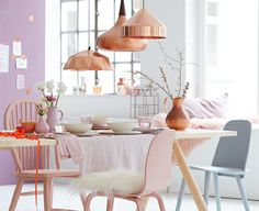 Deco trend: Copper and pastel tones // Dekotrend: Kupfer und Pudertöne