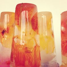 Haak & Smaak: i don't really understand the directions, but the pictures are clear:  flower ice cubes/popsicles