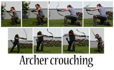 A workable fuck-ton of male archery references. Please note that the top two images of the white statues are for weaker bows; typically, the bowwill havea stronger pull weight. The front arm would be fully extended and straight, and the hand gripping the arrow would not be pinching the arrow itself. There is a certain way to position the arm and shoulder blade (the latter is particularly important, hence my including that cruddy eagle-eyed view of the back [the top example being the…