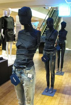 Retail Design | Shop Design | Fashion Store Interior Fashion Shops | in denim we trust, pinned by Ton van der Veer