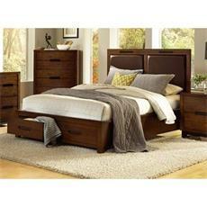 Progressive Furniture P114-94/95/78 Portland King Storage Bed in Nutmeg
