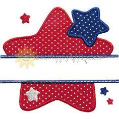 Star Name Plate Applique Design