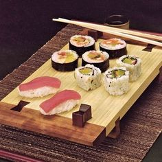 Bamboo Sushi Tray Woodworking Plan by Ralph Bagnall