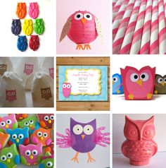 Owl Themed Birthday Party Decorations | For more ideas (and for sources) check my owl birthday party board on ...