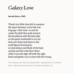 Share Gerald Stern S Poem Galaxy Love On Your Upcoming Anniversary