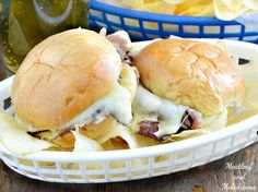 Cheesy Baked Roast Beef Sliders smothered in an easy Dijon mustard sauce are perfect for game day or a quick and easy dinner anytime!