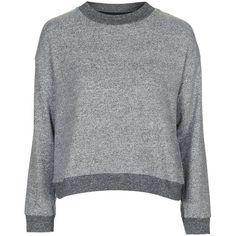 TopShop Super Soft Two Tone Jumper ($20) ❤ liked on Polyvore featuring tops, sweaters, jumper top, jumpers sweaters, relaxed fit tops, crewneck sweaters and topshop jumpers