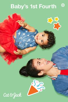 Celebrate the 4th of July in super-cute style. Cat & Jack Baby has the sweetest red, white and blue Americana clothing for your little one's first 4th of July. From sweet tutus, outfits and swimwear, clothes in bold stars and stripes are just what you're looking for. Plus, there are great options for parents, as well! Deck out the whole family, snap a few pics and show your Independence Day love. Happy 4th of July!