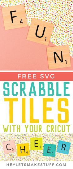 Scrabble Words with Your Cricut - Includes Free SVG!, DIY and Crafts, Use your Cricut to make these fun DIY Scrabble words! Get the FREE SVG set of tiles to create any word you& like. Cut using basswood on your Cric. Scrabble Wand, Scrabble Letters Printable, Cricut Fonts, Cricut Cards, Cricut Stencils, Cricut Help, Cricut Cuttlebug, Printables, Invitations