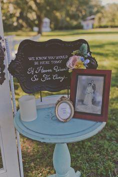 Memory Table at Wedding