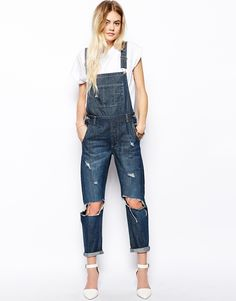 Distressed overalls by Asos