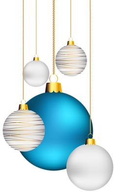 Christmas Balls Transparent PNG Clip Art Image