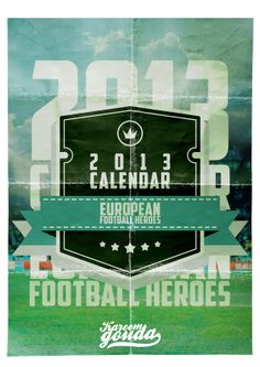Decided to create a vintage calendar for 2013 that contains finest of the European players like Iker Casillas, Bruno Alves, Pavel Nedved, Özil and Roy Keane.