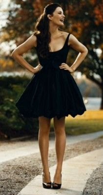 this is the perfect little black dress
